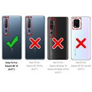 Silikon Hülle für Xiaomi Mi 10 Schutzhülle Matt Schwarz Backcover Handy Case