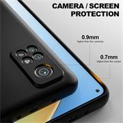 Silikon Hülle für Xiaomi Mi 10T / Mi 10T Pro Schutzhülle Matt Schwarz Backcover Handy Case