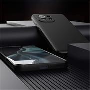 Silikon Hülle für Xiaomi Mi 11 Schutzhülle Matt Schwarz Backcover Handy Case