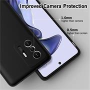 Silikon Hülle für Xiaomi Mi 11T / 11T Pro Schutzhülle Matt Schwarz Backcover Handy Case