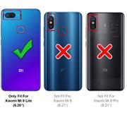 Silikon Hülle für Xiaomi Mi 8 Lite Schutzhülle Matt Schwarz Backcover Handy Case