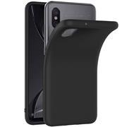 Silikon Hülle für Xiaomi Mi 8 Pro Schutzhülle Matt Schwarz Backcover Handy Case