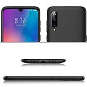 Silikon Hülle für Xiaomi Mi 9 Schutzhülle Matt Schwarz Backcover Handy Case