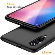 Silikon Hülle für Xiaomi Mi 9 SE Schutzhülle Matt Schwarz Backcover Handy Case