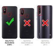 Silikon Hülle für Xiaomi Mi A2 Schutzhülle Matt Schwarz Backcover Handy Case