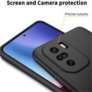 Silikon Hülle für Xiaomi Poco F3 / Mi 11i Schutzhülle Matt Schwarz Backcover Handy Case