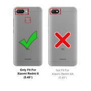 Silikon Hülle für Xiaomi Redmi 6 Schutzhülle Matt Schwarz Backcover Handy Case