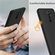 Silikon Hülle für Xiaomi Redmi 9 Schutzhülle Matt Schwarz Backcover Handy Case