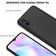 Silikon Hülle für Xiaomi Redmi 9A Schutzhülle Matt Schwarz Backcover Handy Case