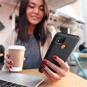 Silikon Hülle für Xiaomi Redmi 9C Schutzhülle Matt Schwarz Backcover Handy Case