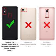 Silikon Hülle für Xiaomi Redmi Note 5 Schutzhülle Matt Schwarz Backcover Handy Case
