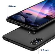 Silikon Hülle für Xiaomi Redmi Note 6 Pro Schutzhülle Matt Schwarz Backcover Handy Case