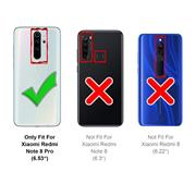 Silikon Hülle für Xiaomi Redmi Note 8 Pro Schutzhülle Matt Schwarz Backcover Handy Case