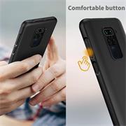 Silikon Hülle für Xiaomi Redmi Note 9 Schutzhülle Matt Schwarz Backcover Handy Case