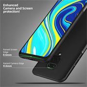 Silikon Hülle für Xiaomi Redmi Note 9 Pro / 9S Schutzhülle Matt Schwarz Backcover Handy Case
