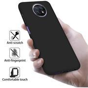 Silikon Hülle für Xiaomi Redmi Note 9T Schutzhülle Matt Schwarz Backcover Handy Case