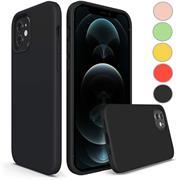 Handy Hülle für Apple iPhone 12 Mini Soft Case mit innenliegendem Stoffbezug