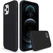 Handy Hülle für Apple iPhone 12 Pro Max Soft Case mit innenliegendem Stoffbezug