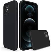 Handy Hülle für Apple iPhone 12 / 12 Pro Soft Case mit innenliegendem Stoffbezug