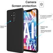 Handy Hülle für Huawei Mate 20 Lite Soft Case mit innenliegendem Stoffbezug