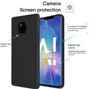 Handy Hülle für Huawei Mate 20 Pro Soft Case mit innenliegendem Stoffbezug