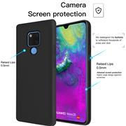 Handy Hülle für Huawei Mate 20 Soft Case mit innenliegendem Stoffbezug