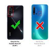 Handy Hülle für Huawei Nova 5T Soft Case mit innenliegendem Stoffbezug