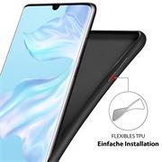 Handy Hülle für Huawei P20 Lite Soft Case mit innenliegendem Stoffbezug