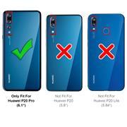 Handy Hülle für Huawei P20 Pro Soft Case mit innenliegendem Stoffbezug