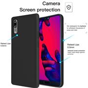 Handy Hülle für Huawei P20 Soft Case mit innenliegendem Stoffbezug