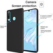 Handy Hülle für Huawei P30 Lite Soft Case mit innenliegendem Stoffbezug