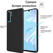 Handy Hülle für Huawei P30 Pro Soft Case mit innenliegendem Stoffbezug