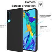 Handy Hülle für Huawei P30 Soft Case mit innenliegendem Stoffbezug