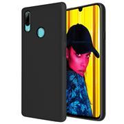 Handy Hülle für Huawei P Smart 2019 Soft Case mit innenliegendem Stoffbezug