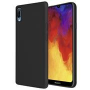Handy Hülle für Huawei Y6 2019 Soft Case mit innenliegendem Stoffbezug