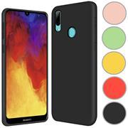 Handy Hülle für Huawei Y7 2019 Soft Case mit innenliegendem Stoffbezug