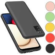 Handy Hülle für Samsung Galaxy A02s Soft Case mit innenliegendem Stoffbezug