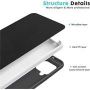 Handy Hülle für Samsung Galaxy A12 / M12 Soft Case mit innenliegendem Stoffbezug