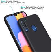 Handy Hülle für Samsung Galaxy A20s Soft Case mit innenliegendem Stoffbezug