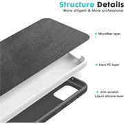 Handy Hülle für Samsung Galaxy A31 Soft Case mit innenliegendem Stoffbezug