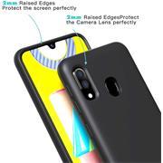 Handy Hülle für Samsung Galaxy A40 Soft Case mit innenliegendem Stoffbezug
