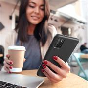 Handy Hülle für Samsung Galaxy A50 / A30s Soft Case mit innenliegendem Stoffbezug