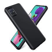 Handy Hülle für Samsung Galaxy A51 Soft Case mit innenliegendem Stoffbezug