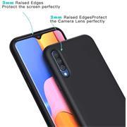 Handy Hülle für Samsung Galaxy A70 / A70s Soft Case mit innenliegendem Stoffbezug