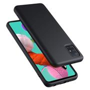 Handy Hülle für Samsung Galaxy A71 Soft Case mit innenliegendem Stoffbezug
