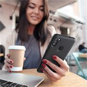 Handy Hülle für Samsung Galaxy M11 Soft Case mit innenliegendem Stoffbezug