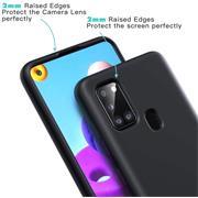 Handy Hülle für Samsung Galaxy M30s / M21 Soft Case mit innenliegendem Stoffbezug