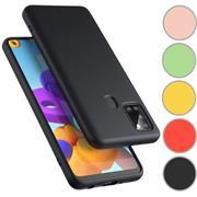 Handy Hülle für Samsung Galaxy M31 Soft Case mit innenliegendem Stoffbezug