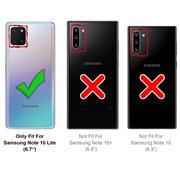 Handy Hülle für Samsung Galaxy Note 10 Lite Soft Case mit innenliegendem Stoffbezug