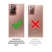 Handy Hülle für Samsung Galaxy Note 20 Ultra Soft Case mit innenliegendem Stoffbezug